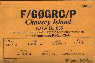 Chausey QSL card
